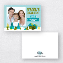 Snow Globe: Holiday Photo Card