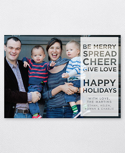 Spread Cheer Holiday Photo Card