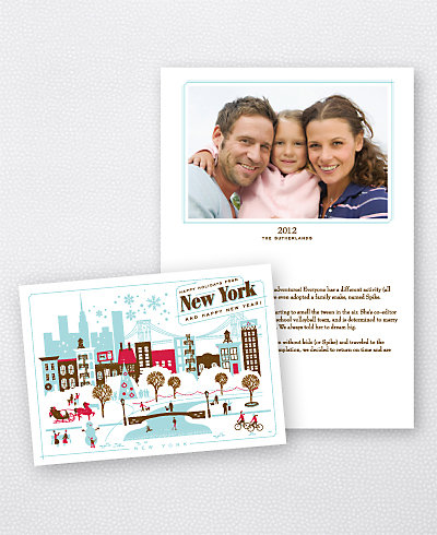 Greetings from New York Folded Holiday Photo Card