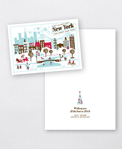 Greetings from New York Folded Holiday Card (no photo)