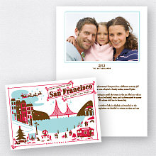 Greetings from San Francisco: Folded Holiday Photo Card