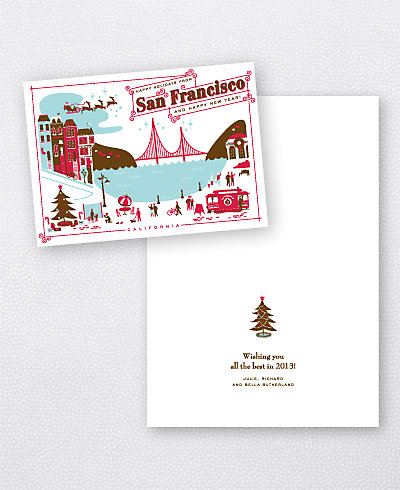 Greetings from San Francisco Folded Holiday Card (no photo)