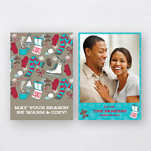 Warm and Cozy: Holiday Photo Card
