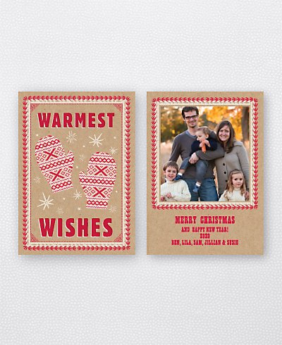 Warm Mittens Holiday Photo Card