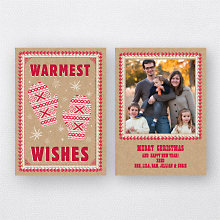 Warm Mittens: Holiday Photo Card