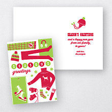 Warm Things: Letterpress Christmas Card