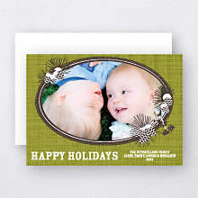 Winter Pinecones: Holiday Photo Card