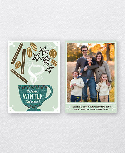 Winter Spices Holiday Photo Card