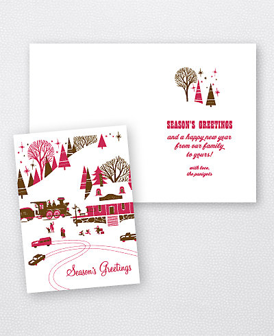Winter Wonderland Letterpress Holiday Card