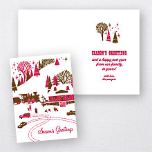 Winter Wonderland: Letterpress Holiday Card