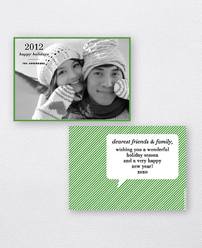 WordBubble Holiday Photo Card