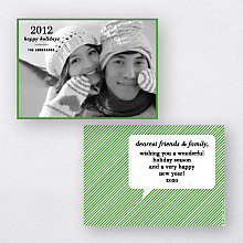 WordBubble: Holiday Photo Card (Landscape)