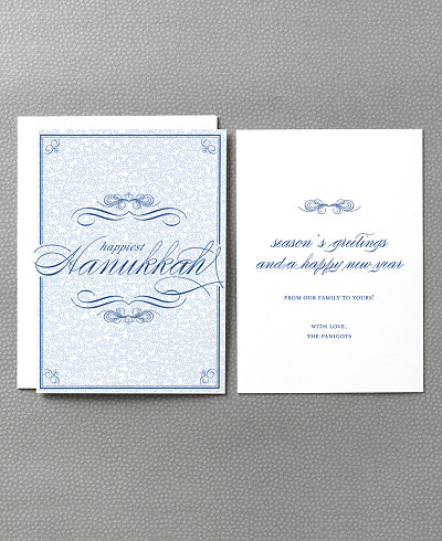 Happiest Hanukkah Letterpress Holiday Card