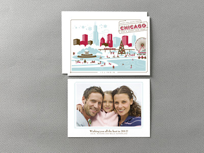 Greetings from Chicago Holiday Photo Card