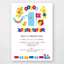 1st Birthday: Kids Party Invitation