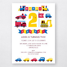 2nd Birthday (Boy): Kids Party Invitation