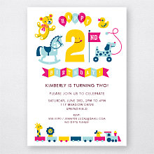 2nd Birthday (Girl): Kids Party Invitation