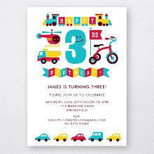 3rd Birthday (Boy): Kids Party Invitation