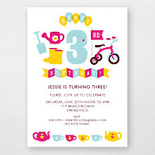 3rd Birthday (Girl): Kids Party Invitation