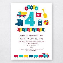4th Birthday (Boy): Kids Party Invitation