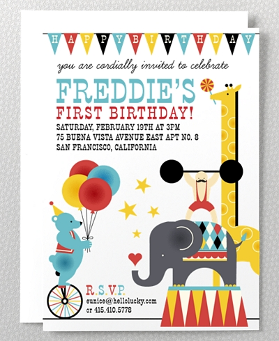 Big Top Kids Party Invitation
