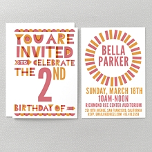 Color Block: Kids Invitation