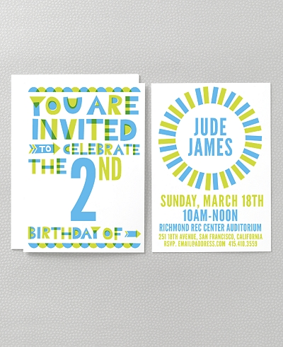 Color Block Kids Party Invitation
