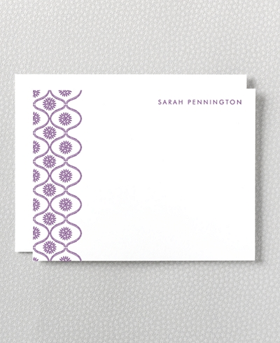 Bohemian Letterpress Flat Note Card