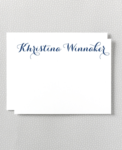 Calligraphy Letterpress Flat Note Card