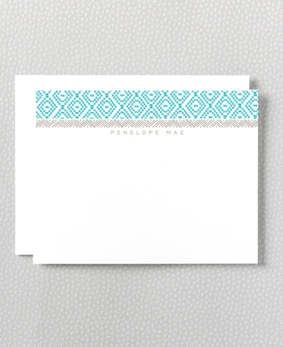 Cross Stitch Flat Note Card