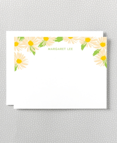 Daisy Letterpress Flat Note Card