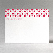Dots: Letterpress Flat Note Card