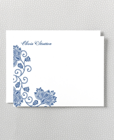 Duchesse Letterpress Flat Note Card