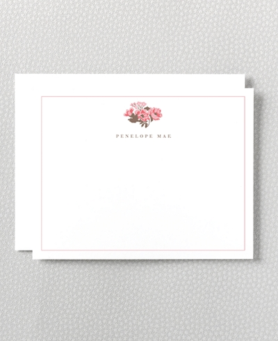 English Rose Letterpress Flat Note Card