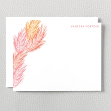 Feathers: Letterpress Flat Note Card