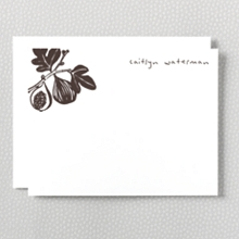 Fig: Letterpress Flat Note Card