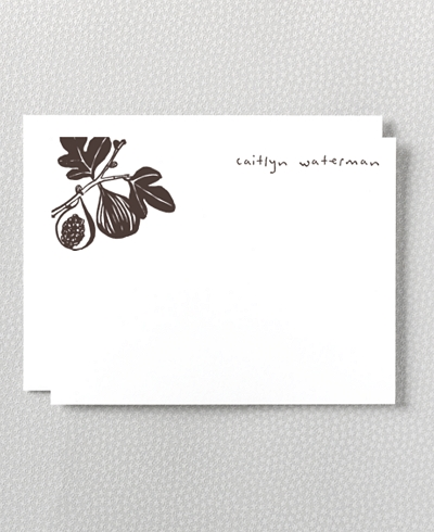 Fig Letterpress Flat Note Card