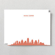 Austin Skyline: Flat Note Card