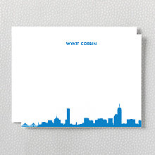Boston Skyline: Flat Note Card