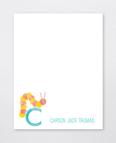 C is for Caterpillar Flat Note Card