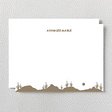Desert Skyline: Flat Note Card