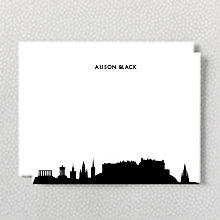 Edinburgh Skyline: Flat Note Card