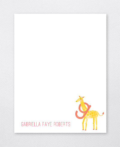 G is for Giraffe Flat Note Card