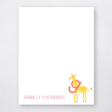 G is for Giraffe: Flat Note Card