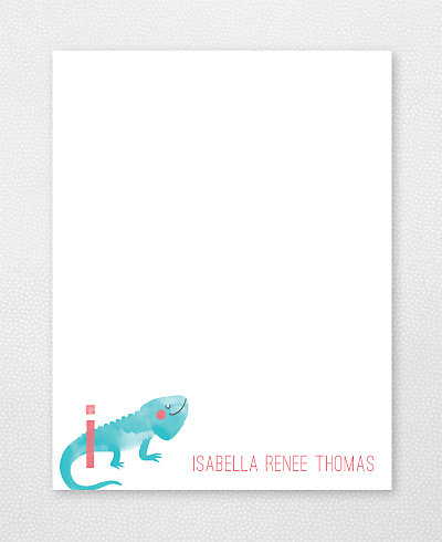 I is for Iguana Flat Note Card