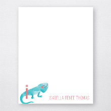 I is for Iguana---Flat Note Card