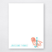 J is for Jellyfish - Flat Note Card