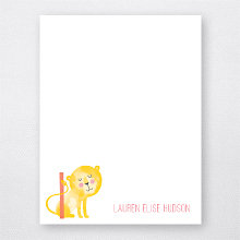 L is for Lion: Flat Note Card