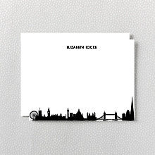 London Skyline: Flat Note Card