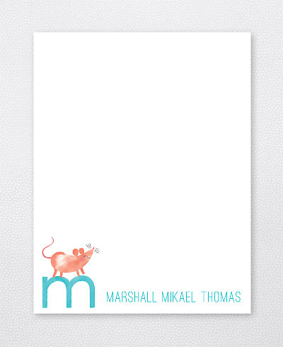 M is for Mouse Flat Note Card